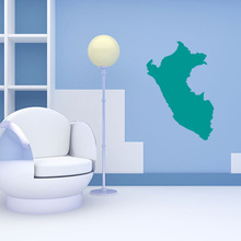 Peru map Globe Earth Country wall vinyl sticker custom made home decoration fashion design