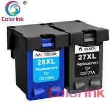 Coloink 2 шт 27XL 28XL Заправляемый картридж Замена для hp 27 28 XL для hp с чернилами hp Deskjet 450 450CI 5550 3420 3520 3550 3650 чернил