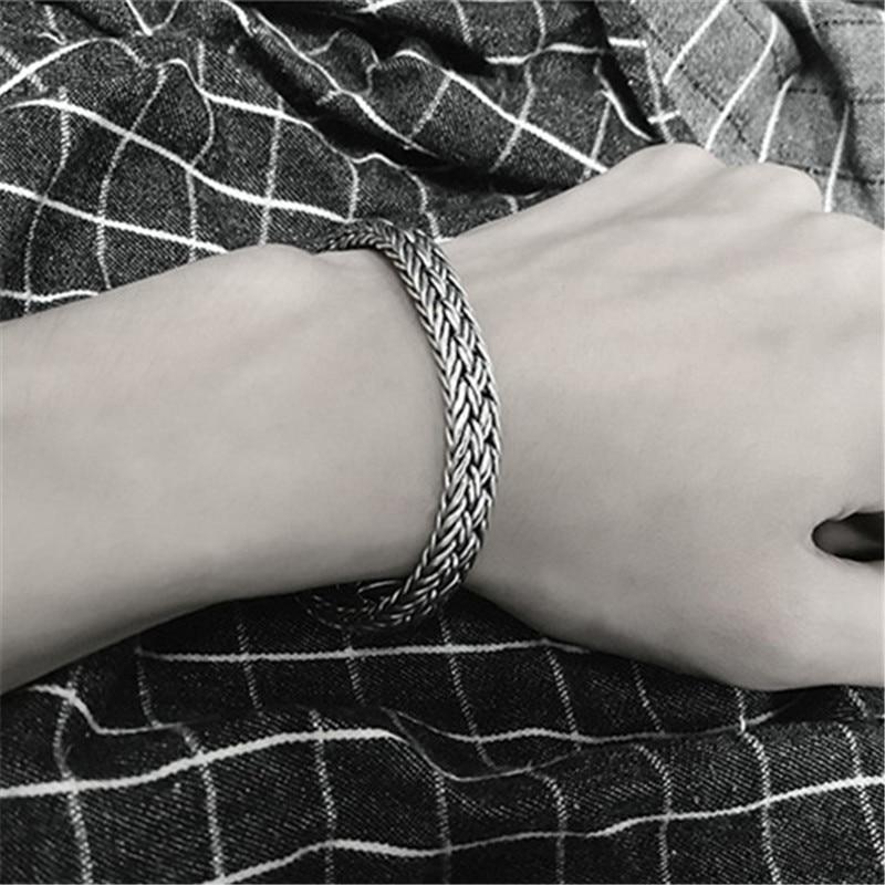 Statement AMBUSH Street Hip Hop Titanium Steel Watch Bracelet Cool Casual Men's Tide Fashion Bangle Jewelry For Party Gifts - 2