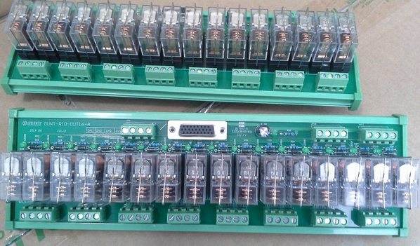 output board with relays