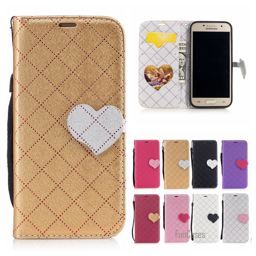 Hot 2017 Multicolor PU Leather Case For Samsung Galaxy A3 2017 Love Heart Flip Protectio ...