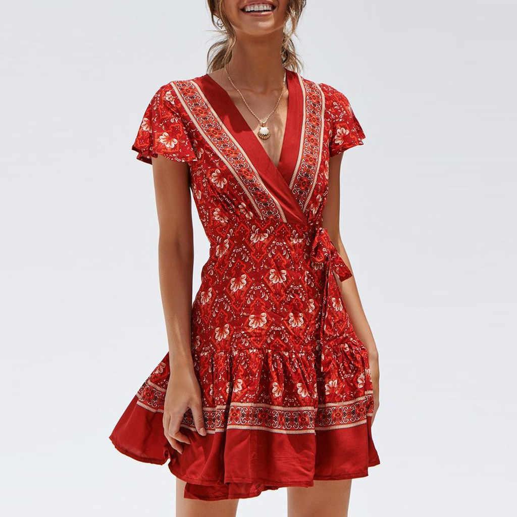 Хахарадженские сарафаны в бобобобобобобобобобобобобобобобобобобобобобобобобобобобобобобобохо летнее платье с v-образным вырезом вечернее пляжное платье Короткое мини платье одежда