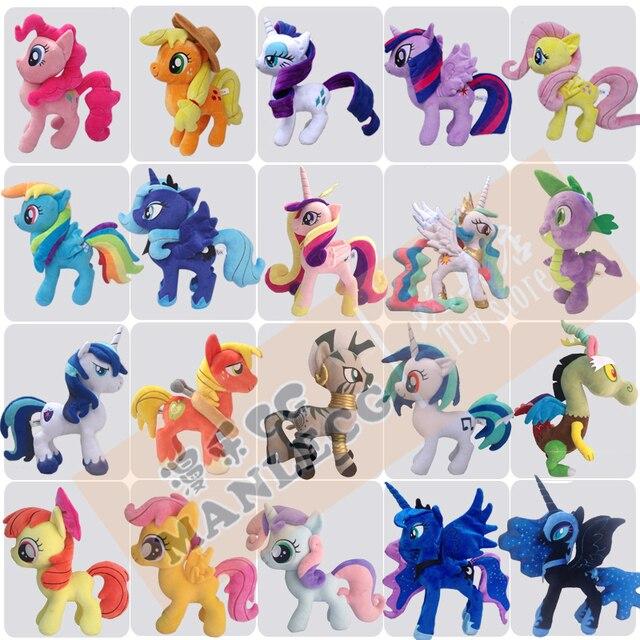 1 piece little pvc Action Toy Figures Hobbies Princess Celestia luna  Unicorn plush doll ty beanie boos horse aaa horse d789d34d327