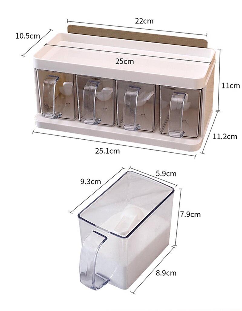 Kitchen salt and sugar seasoning box11