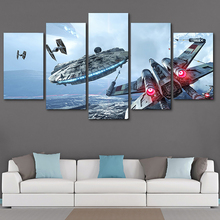 Canvas Painting Wall Art 5 Piece Science Fiction Cartoon Movie Star Wars HD Print For Room Modern Decorative