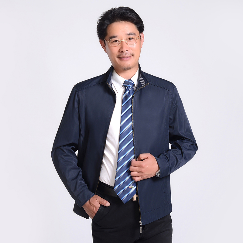 Middle Aged Men Business Casual Coat
