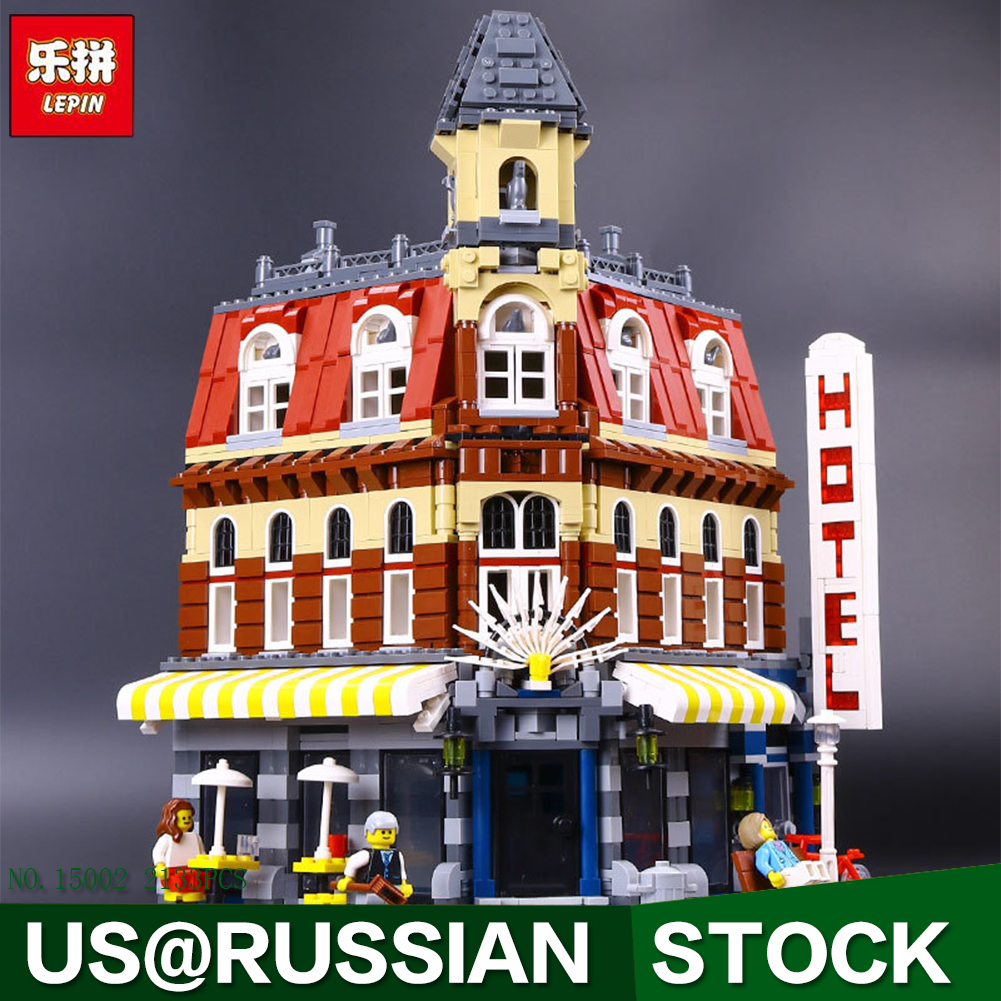 lepin 15002 Creators Cafe Corner Model Building Kits Blocks Kid Toy Gift 2133Pcs Bricks new lepin 15002 2133pcs cafe corner model building kits blocks kid diy educational toy children day gift brinquedos 10182