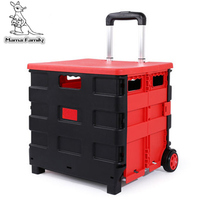 Car Trunk Storage Box Folding Suitcase With Wheel Portable New Top Quality Travel Trolley Carts 3