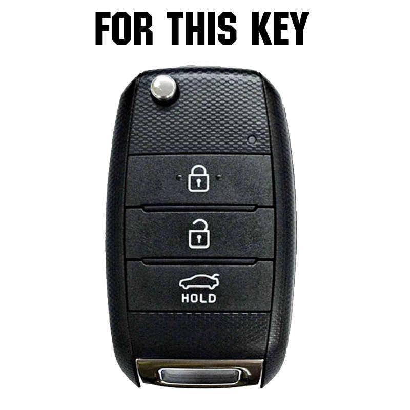 Silicone Car Remote Key Cover For Kia Carens Ceed Sorento Optima Picanto Rio Soul Cerato Rando Forte Sportage Key Fob Case 3 Button