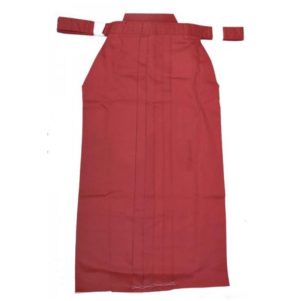 High Quality Unisex Japan  Iaido Aikido Hapkido Kendo Hakama Martial Art Uniforms Kungfu Pant Dark Red Free Shipping