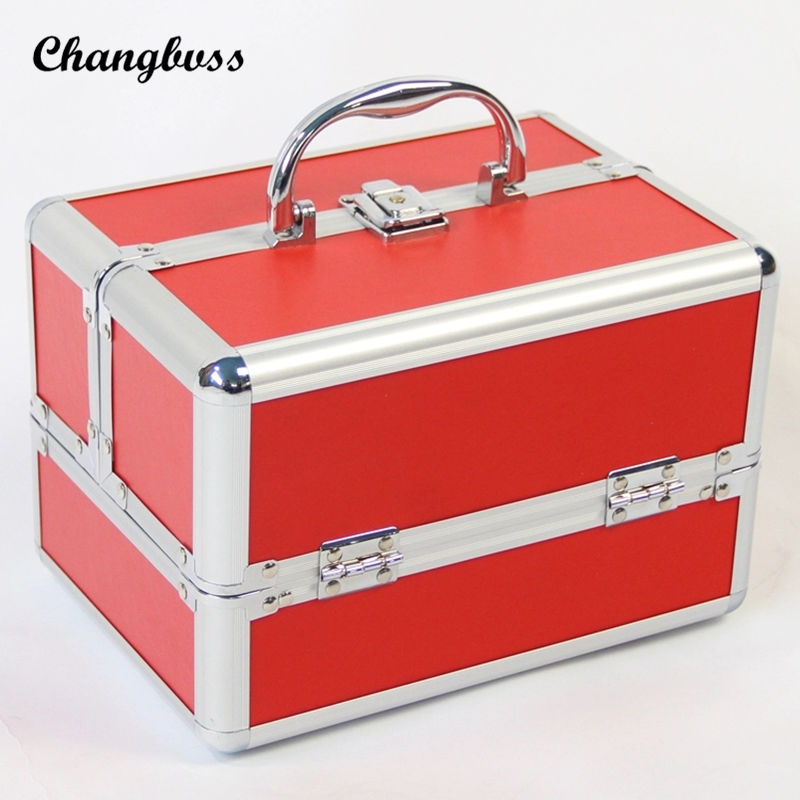 Brand New Women Waterproof Cosmetic Bag Jewelry Storage Box Travel Beauty Kits Organizer Suitcase Portable Makeup Bags neceser dji spark glasses vr glasses box safety box suitcase waterproof storage bag humidity suitcase for dji spark vr accessories