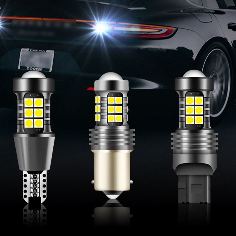 2pcs T15 <font><b>T20</b></font> 1156 <font><b>LED</b></font> Car Reversing Tail light 12V Signal Lamp 1100LM Parking Brake <font><b>Bulb</b></font> Auto Back <font><b>Rear</b></font> Lamps W16W W21W P21W image