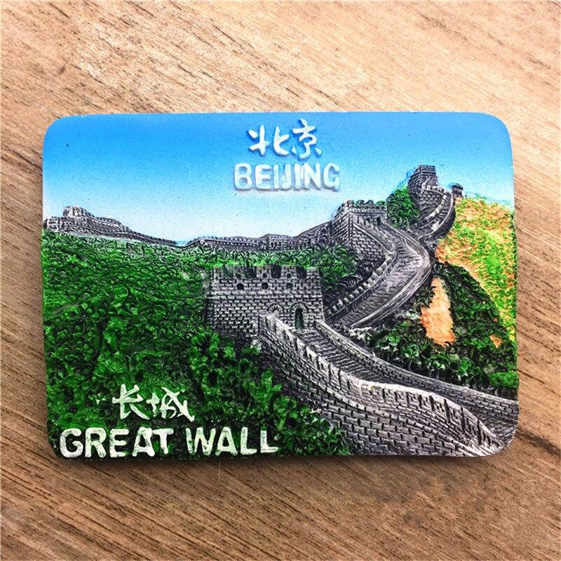 The Great Wall Beijing China Tourist Travel Souvenir 3D Resin Decorative Fridge Magnet Craft GIFT IDEA