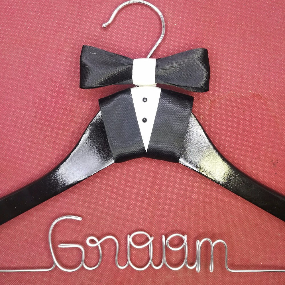 Personalized Wedding Hanger, bridesmaid gifts, name hanger, brides hanger custom Bridal Gift white hanger with bow
