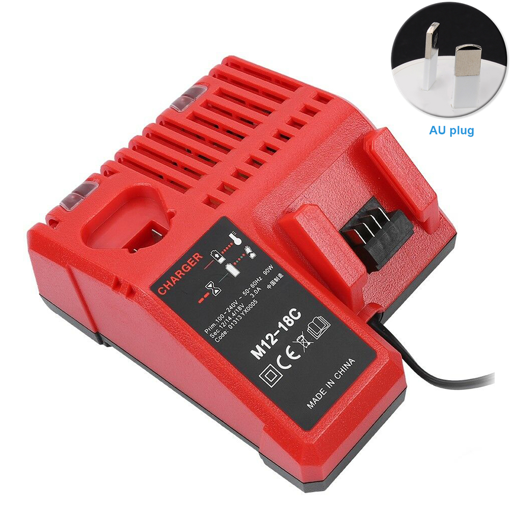 Rapid Smart Anti Overheat Li ion Battery Charger Portable Accessory Cordless Dual Port Power Tool Replace Durable For Milwaukee