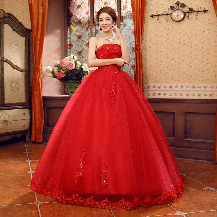 Colour Wedding Gown: Ball Gown Wedding Dress/Princess Style Wedding Dress