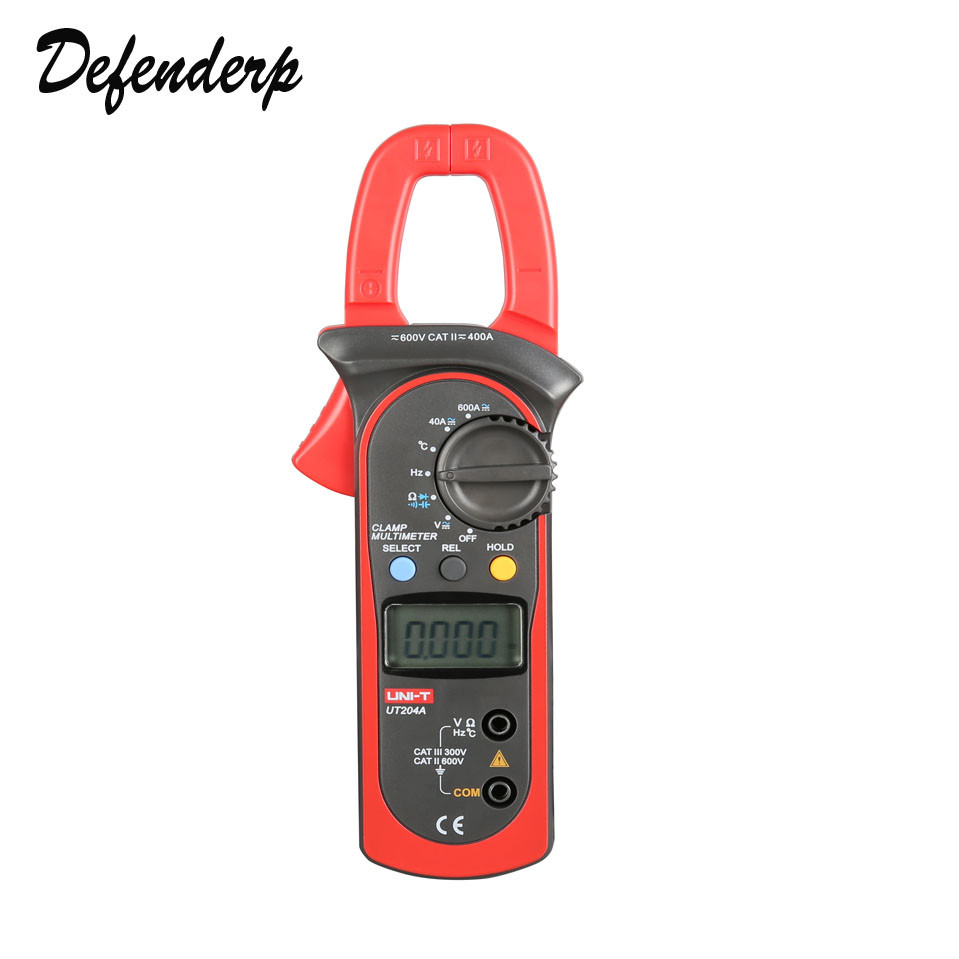 ФОТО UNI-T DC/AC Voltage Current Digital Clamp Meter with Resistance, Capacitance, Frequency and Temperature Measurement UT204A