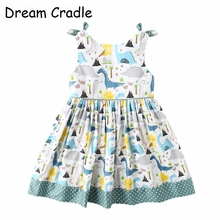 Dream Cradle / New Design Dinosaur Baby Girls Dress Boutique