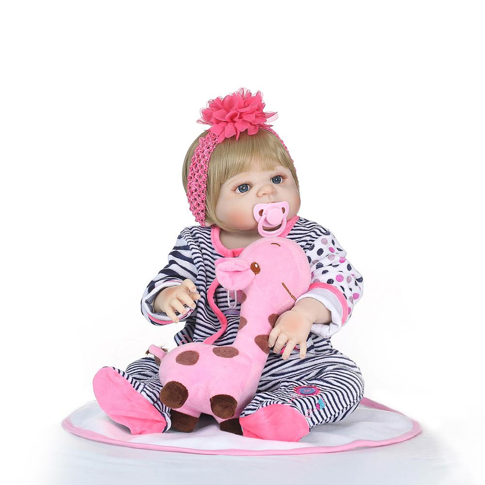 2018 New 0-6 Years Old Cute Silicone Rebirth Baby Bebes Realistic Newborn Female Doll 56cm Water Toys Children Birthday Gift 2018 New 0-6 Years Old Cute Silicone Rebirth Baby Bebes Realistic Newborn Female Doll 56cm Water Toys Children Birthday Gift
