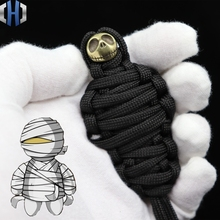 2m 7 Core Paracord Pure Copper DIY Mummy Pumpkin Knife Beads Brass Halloween Skull Rope EDC Tools Survival