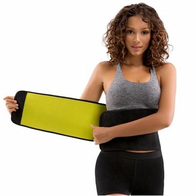 f16766257f5de 2018 New Women s Cummerbunds Hot Shaping Self Heating Body Slimming Waist  Trimmer Shaper Belt Neoprene Training Corsets Bodysuit