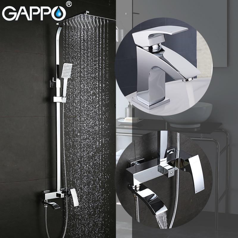 GAPPO bañera grifos de latón lavabo mezclador grifos cascada grifo de lavabo grifo
