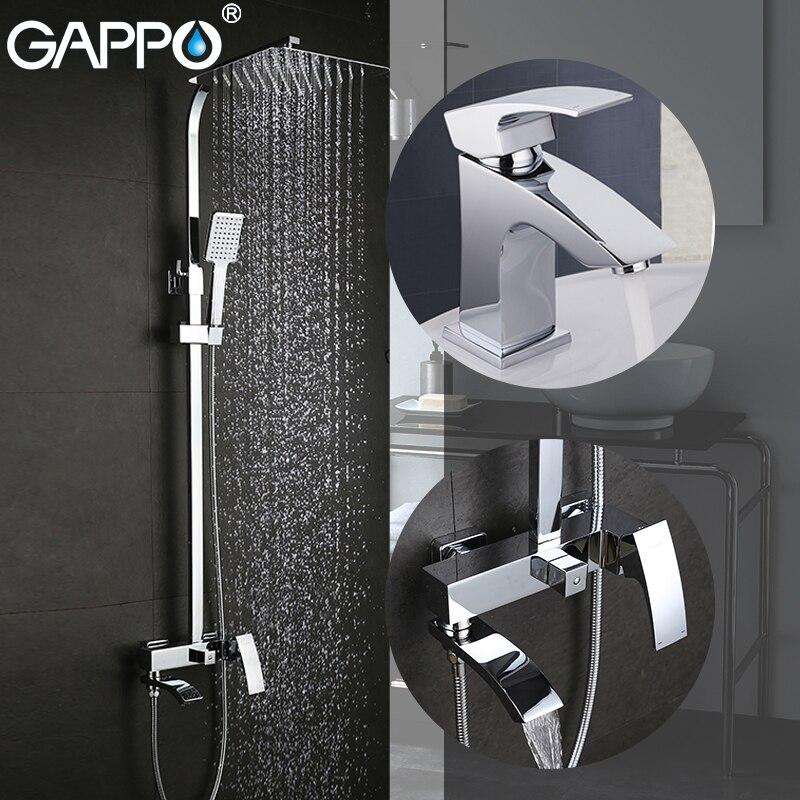 Gappo banheira torneiras banheira de bronze bacia torneiras misturadoras cachoeira torneira do banheiro torneira da bacia