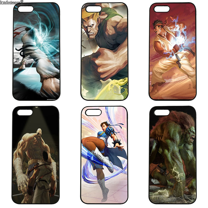 Hot Street Fighters Mobile Phone Cases Hard PC Plastic Cover for iphone 8 7 6 6S Plus X 5S 5C 5 SE 4 4S iPod Touch 4 5 6 Shell