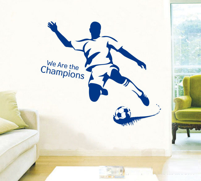 Aliexpress.com : Buy Champions Football Stars Home Wall Sticker,removable  Kidsu0027 Room Wall Mural,Boys Bedroom Soccer Competition Vinyl Decal Stickers  From ...