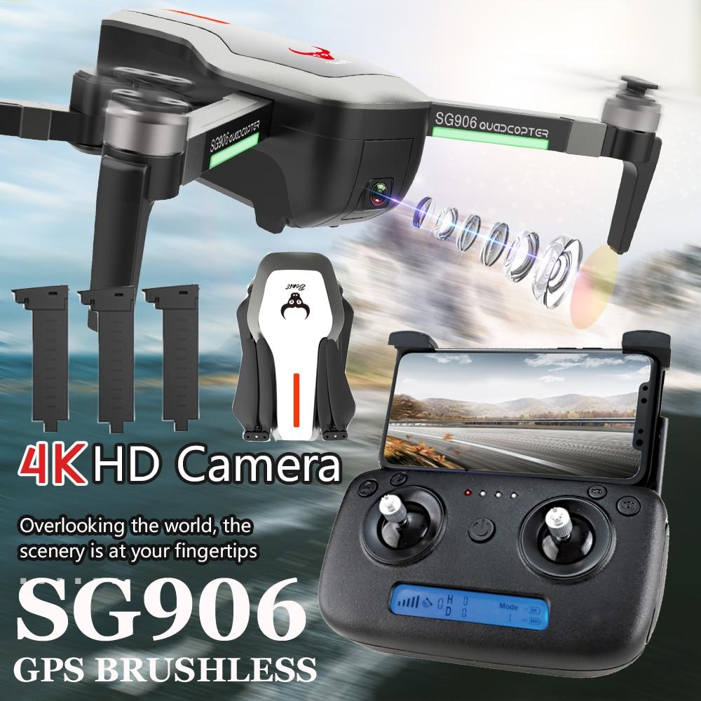 ZLRC Beast SG906 5G GPS Drone 4K Ultra HD 1080P WIFI FPV Selfie พับได้ 1080P RC Quadcopter RTF VS XS812 XS809HW SG106-ใน เฮลิคอปเตอร์ RC จาก ของเล่นและงานอดิเรก บน   1