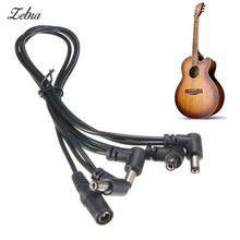 Zebra 4 Ways 9v guitar effects Pedal Power Supply cable Splitter line Adapter for electric guitar power cord, LED light wire