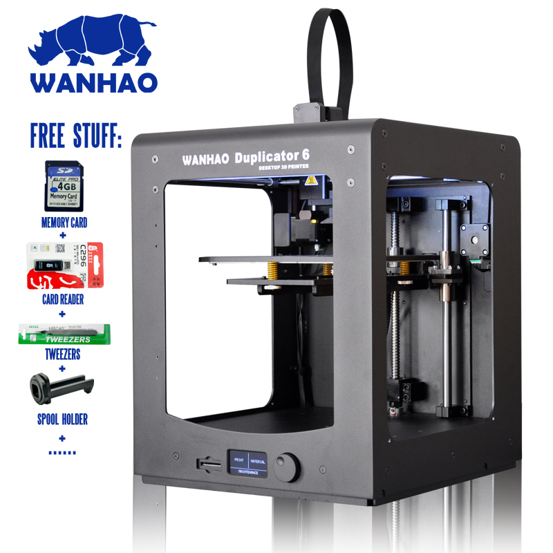 WANHAO FDM 3D Printer D6 PLUS with fast printing speed filaments&software for free large print size area image