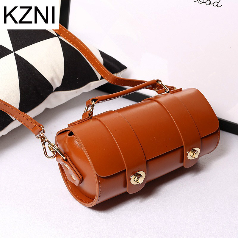 KZNI Genuine Leather Purse Crossbody Shoulder Women Bag Clutch Female Handbags Sac a Main Femme De Marque  L110603 hobos bags handbags women famous brand female high quality leather shoulder bag women crossbody bag sac a main femme de marque