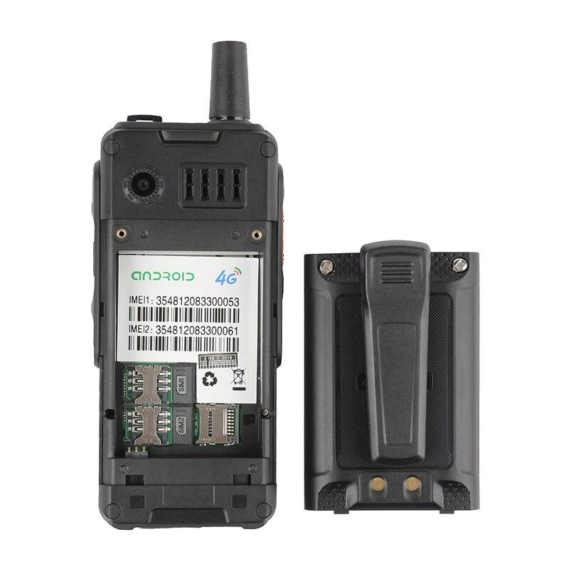 UNIWA Alpes F40 teléfono móvil Zello Walkie Talkie IP65 impermeable FDD LTE 4G GPS Smartphone MTK6737M Quad Core 1GB + 8GB teléfono móvil - 5
