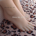 22cm 37# Silicone pussy fetish russian girl fake foot,Inner-Bone Inside,Toe Move Freely,Feet/Shoe Model F511