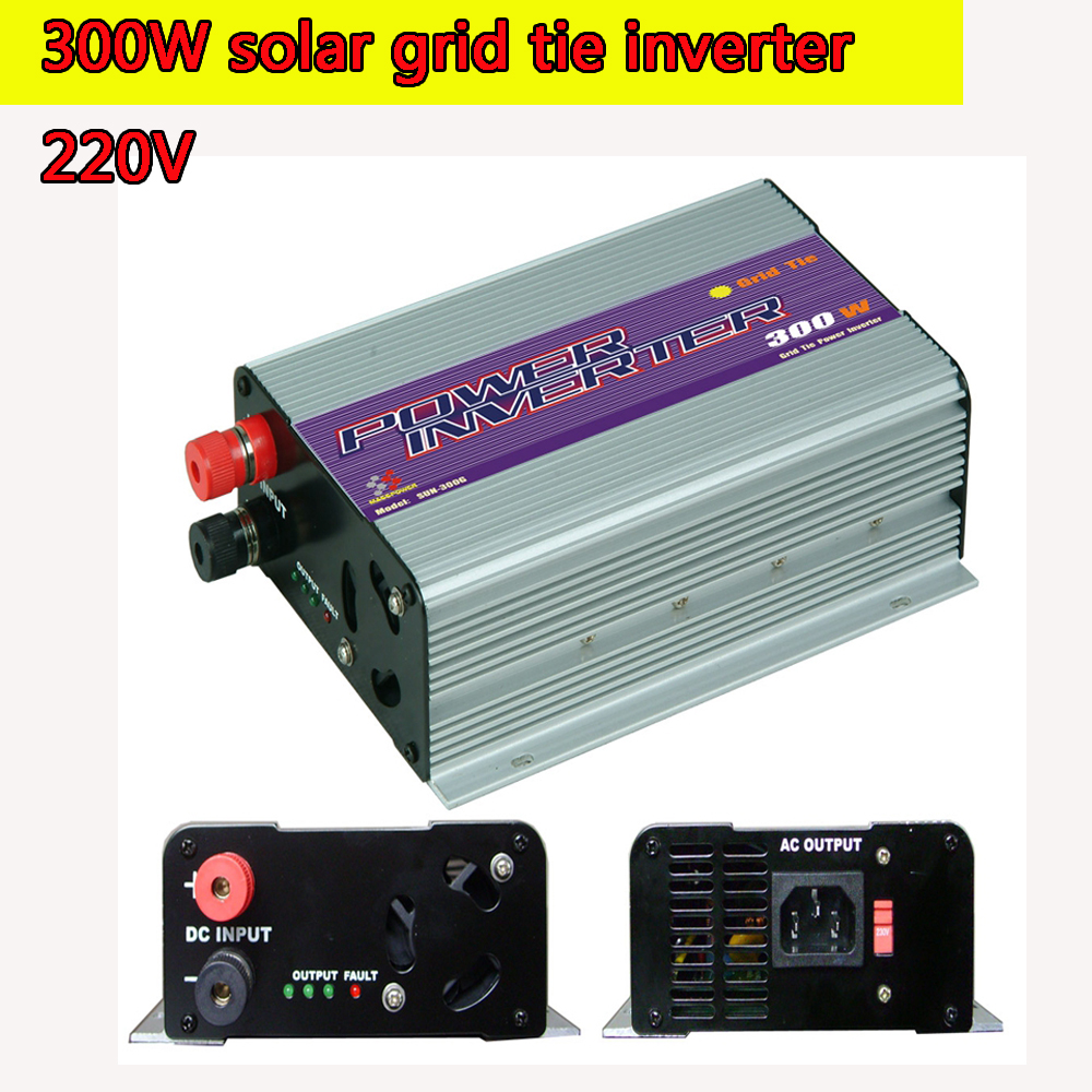 300W Mini Grid Tie Inverter MPPT 220V Pure Sine Wave Adjustable 10.8V to 30V and  22V to 60V Input MPPT Function Low Consumption 600w grid tie inverter lcd 110v pure sine wave dc to ac solar power inverter mppt 10 8v to 30v or 22v to 60v input high quality