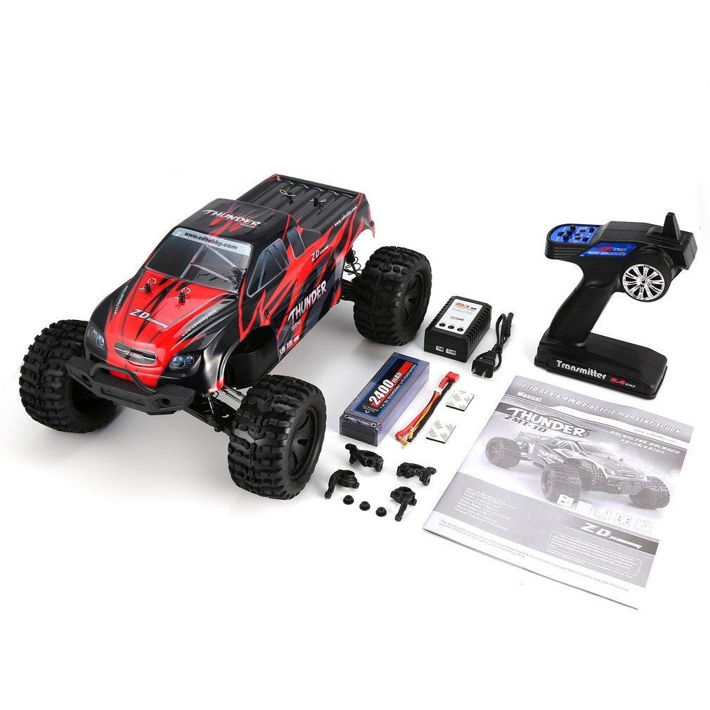 Nouveau 1/10 Thunder 4WD Brushless 70 KM/h course RC voiture Bigfoot Buggy camion RTR jouets télécommande véhicule escalade voiture RC modèle