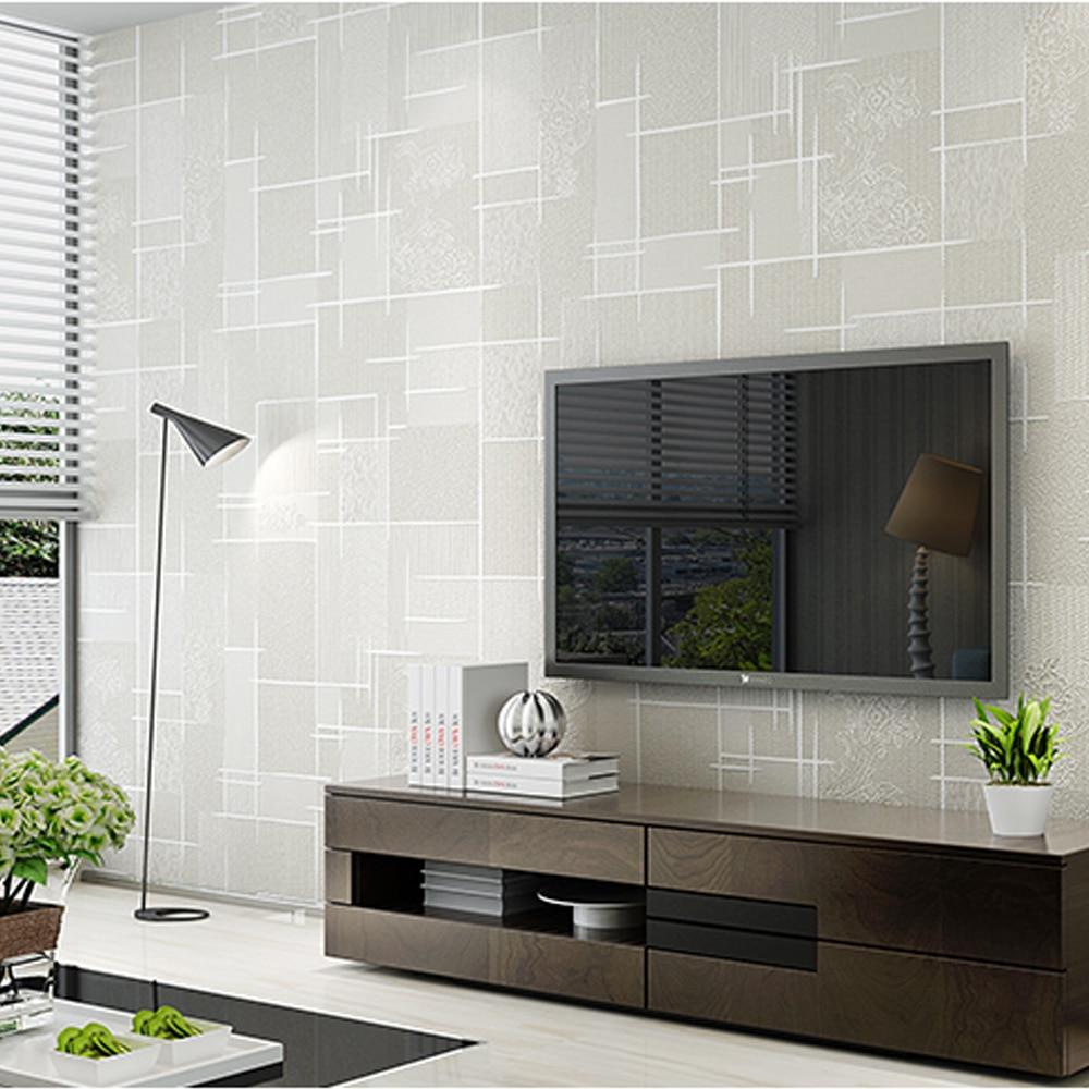 Modern Simple 3D Effect Texture Embossed Wallpaper
