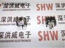 100PCS 3.5MM headphone jack audio socket 5 pin DIP socket black PJ 306