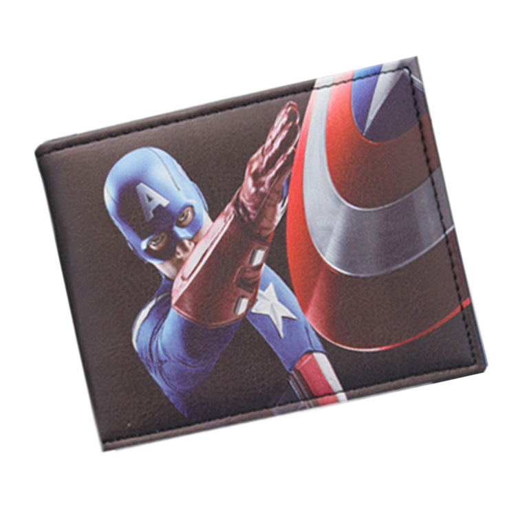 Pu Leather Comics the Heros Captain America/Star Wars 3D Purse Credit Card Holder Cartoon Wallet Aegis Board wallet periphery star wars purse high quality leather