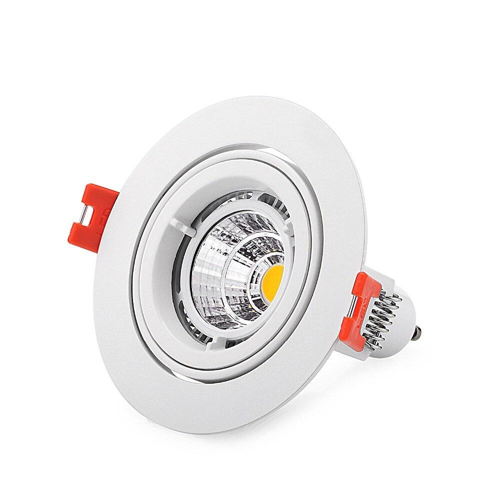 Gu10 Led Ceiling Light Fixture: 100pcs Round White Led Bulb Cup Holders Aluminum Frame