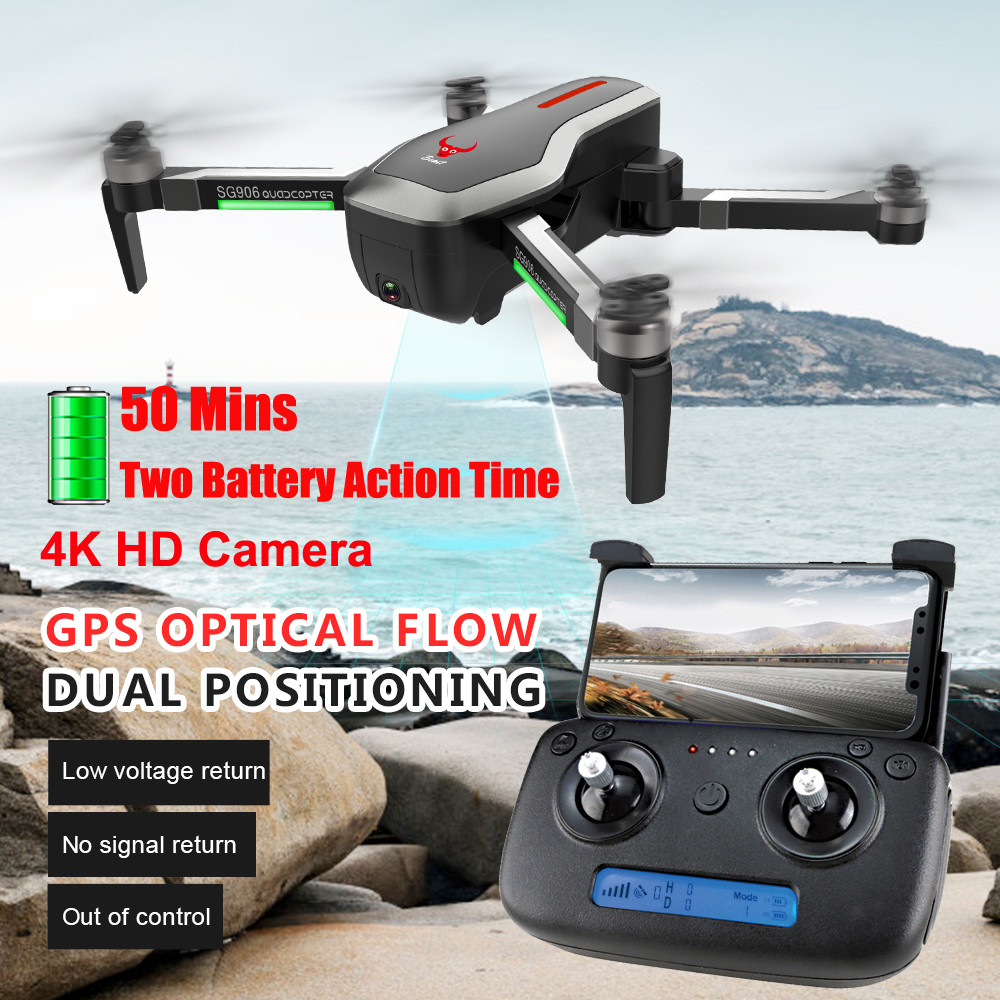 SG906 GPS 5G WIFI FPV 4 K caméra sans brosse Selfie pliable Drone RC Drone quadrirotor avec caméra HD Rc quadrirotor volant