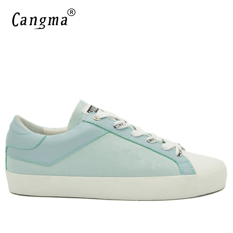 CANGMA Famous Brand Sneakers Women Casual Shoes Retro Trainers Blue Breathable Lace Up Ladies Canvas Shoes Female Denim FootwearCANGMA Famous Brand Sneakers Women Casual Shoes Retro Trainers Blue Breathable Lace Up Ladies Canvas Shoes Female Denim Footwear