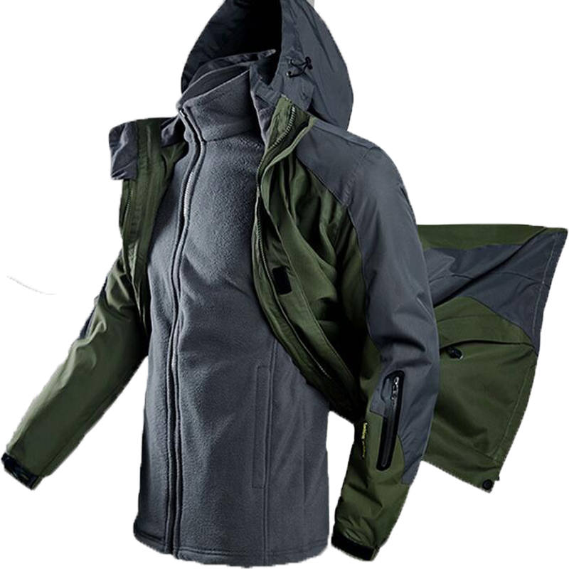 Oversized Men Winter Waterproof Fishing Warm Plus Size Trekking Hiking Camping High Quality Climbing 3 in 1 Outdoor Jacket 5XL cnuon 3 5xl