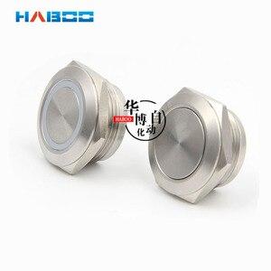 5 шт./лот dia.19 мм Электрический выключатель с плоской головкой, Мгновенный кнопочный переключатель 304, нержавеющая сталь IP65, водонепроницаемы...