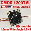 "1/4 ""FH8510 CMOS 1200tvl 1.8mm grande ahdl motherboard hd lente Grande Angular 960 P cvbs Analógico mini módulo produtos de vigilância samll"