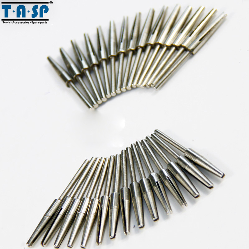 30PC Diamond Coated Rotary Burr Bit Set 3.2mm Shank Rotary Abrasive Tools