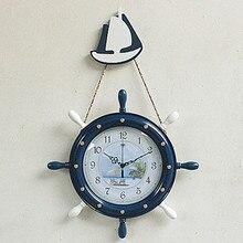 Modern minimalist art North Star ship rudder room wall mute European bedroom simple decoration quartz clock