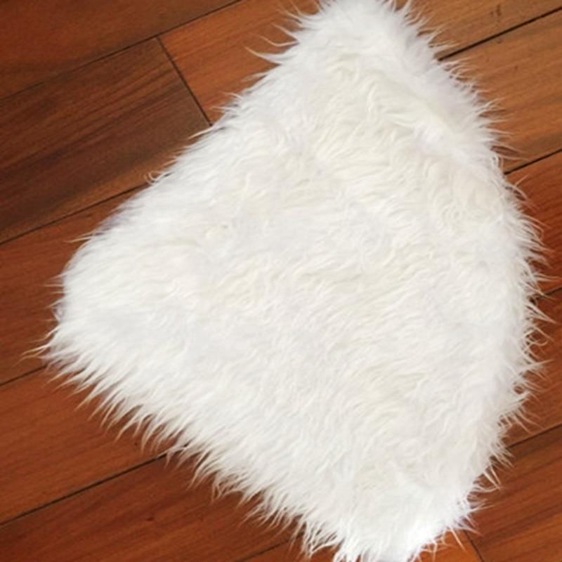 2017 Christmas Tree Skirt White Fur Carpet Extra Large Round Plush ...