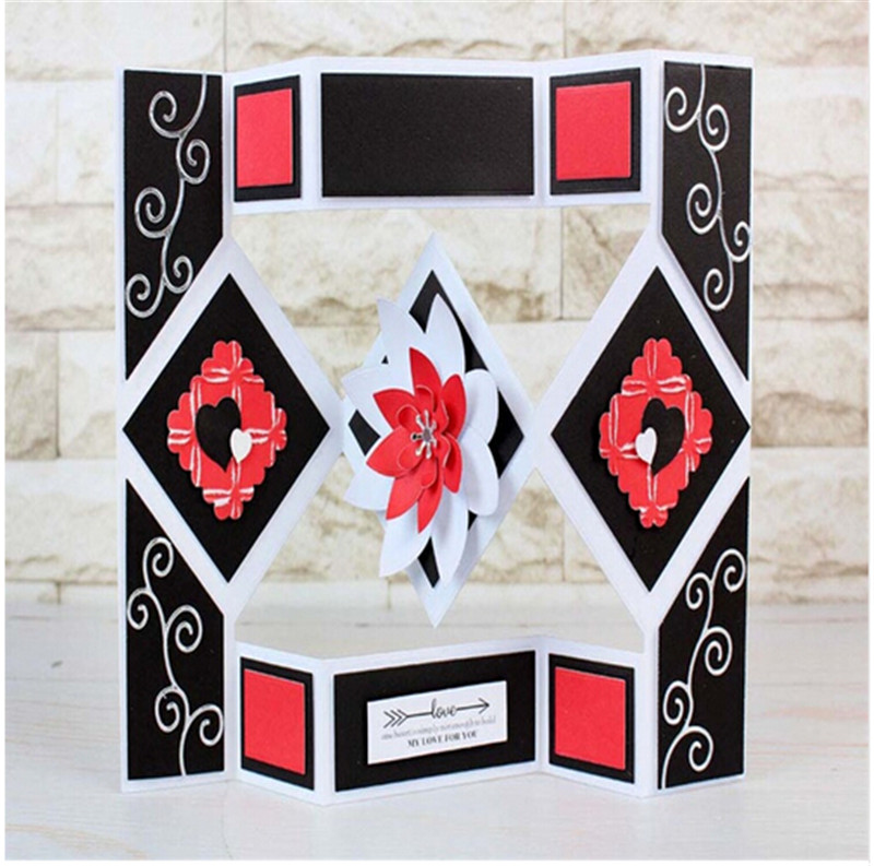 Geometry Folder Screen Metal Cutting Dies Stencils for DIY Scrapbooking Decorative Crafts Embossing Paper Cards gift Box decore